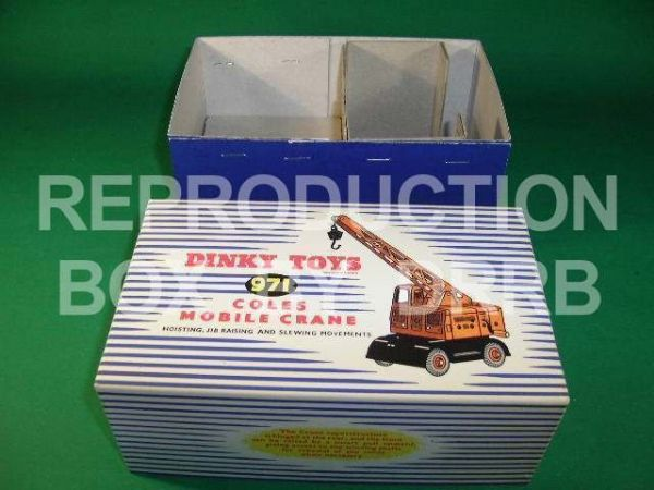 Dinky #971 (571) Coles Mobile Crane - Reproduction Box